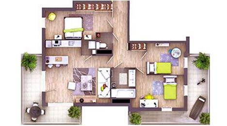 plan appartement t4