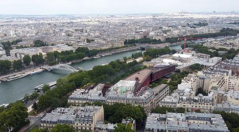 Vue aerienne de Paris