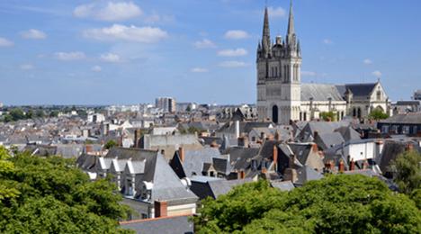 Vue des toits d'Angers