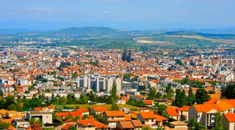 Clermont-Ferrand vu du ciel