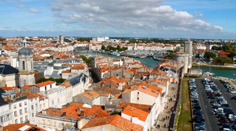 Vue des toits de La Rochelle