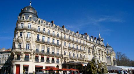 Place de la comédie à Montpellier