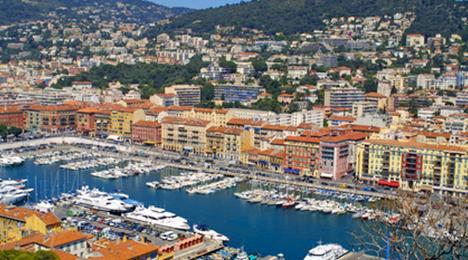 Vue du port de Nice