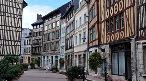 Anciennes maisons à colombage à Rouen