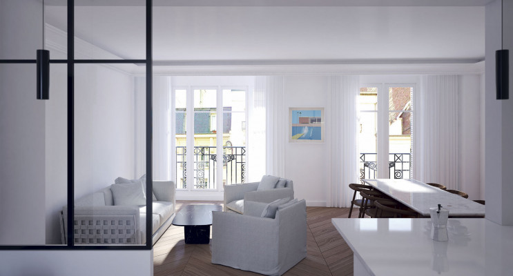 Paris programme immobilier à rénover « Paris Bellevue » en Déficit Foncier