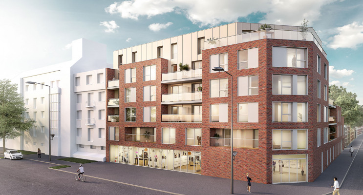 Roubaix programme immobilier neuf « Le 81 Barbieux » en Loi Pinel