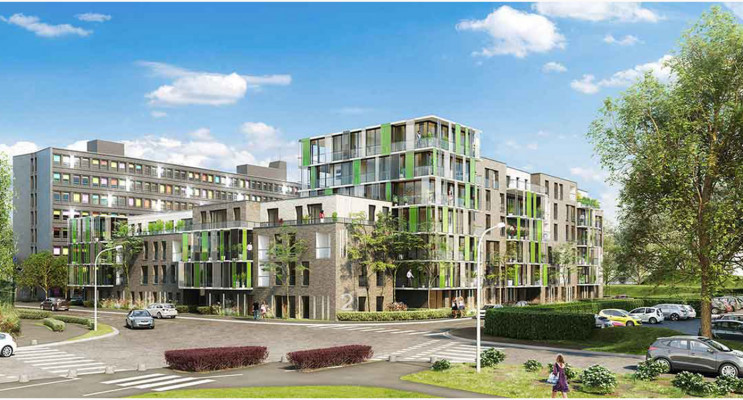 Villeneuve-d'Ascq programme immobilier neuf « Résidence du Croisé d'Ascq - Bât B » en Loi Pinel