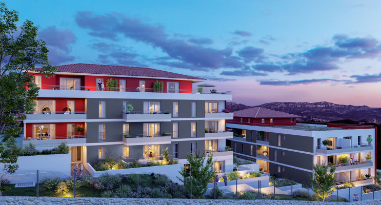 Marseille programme immobilier neuf « Rubis Garden » en Loi Pinel