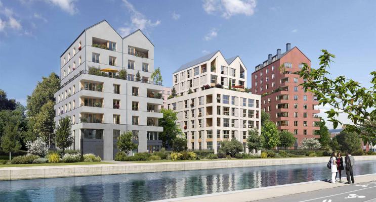 Bobigny programme immobilier neuf « Les Reflets de l'Ourcq » en Loi Pinel